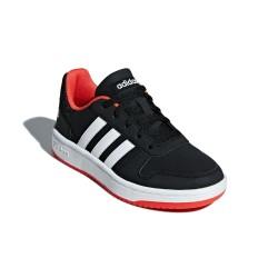 Adidas Hoops 2.0 K Fiú Gyerek Cipő (Fekete-Piros) B76067