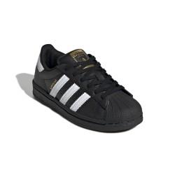 Adidas Originals Superstar C Uniszex Gyerek Cipő (Fekete-Fehér) EF5394