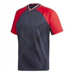 Adidas Jacquard Jersey Tee Férfi Póló (Kék-Piros) FR7210