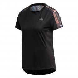 Adidas Own The Run Tee Női Futó Póló (Fekete) FS9818