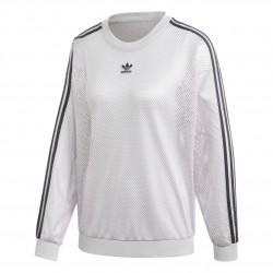 Adidas Originals Mesh Crew Sweatshirt Női Felső (Szürke-Fekete) GP2151