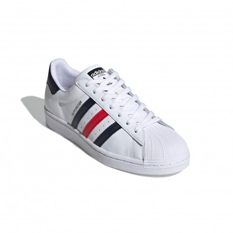 Adidas Originals Superstar Férfi Cipő (Fehér-Fekete-Piros) FX2328