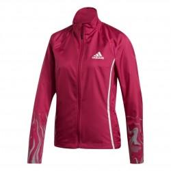 Adidas Glam On Jacket Női Futó Dzseki (Sötétrózsaszín-Szürke) GC6657