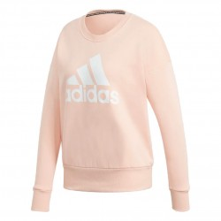 Adidas Badge Of Sport Crew Sweatshirt Női Pulóver (Barack-Fehér) GC6926