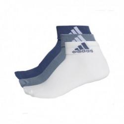 Adidas Performance Ankle Thin 3PP 3 Páras Zokni (Sötétkék-Világoskék-Fehér) CF7368