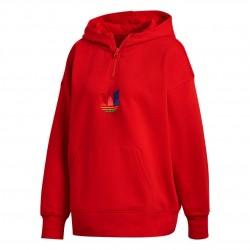 Adidas Originals Adicolor 3D Trefoil Halfzip Hoodie Női Pulóver (Piros-Színes) GD2247
