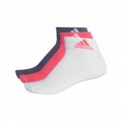 Adidas Performance Ankle Thin 3PP 3 Páras Zokni (Lila-Rózsaszín-Fehér) CF7369