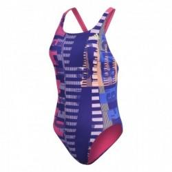 Adidas Allover Print Swimsuit Női Úszódressz (Pink-Kék) CV3629