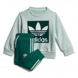 Adidas Originals Crew Sweatshirt Set Uniszex Bébi Együttes (Zöld-Fehér) ED7676