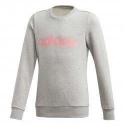 Adidas YG Linear Sweatshirt Lány Gyerek Pulóver (Szürke-Rózsaszín) GD6350