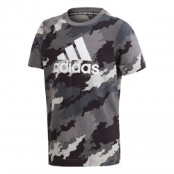 Adidas YB MH Badge Of Sport Tee Fiú Gyerek Póló (Szürke-Fehér) GE0688