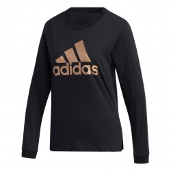 Adidas U4 Long Sleeve Shirt Női Felső (Fekete-Arany) GG3404