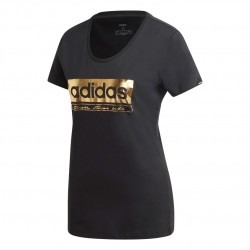 Adidas Foil Graphic Tee Női Póló (Fekete-Arany) GL2849
