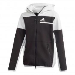 Adidas ZNE Full Zip Hoodie Fiú Gyerek Felső (Fekete-Fehér) GN4762