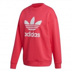 Adidas Originals Trefoil Crew Sweatshirt Női Pulóver (Rózsaszín-Fehér) GD2436