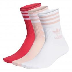 Adidas Originals Mid Cut Crew Socks 3PP 3 Páras Zokni (Rózsaszín-Fehér) GD3579
