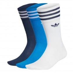 Adidas Originals Solid Crew Socks 3PP 3 Páras Zokni (Kék-Fehér) GD3580