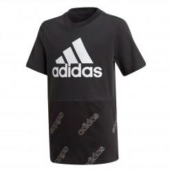 Adidas YB Fav AOP Tee Fiú Gyerek Póló (Fekete-Fehér) GD6109