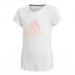 Adidas JG Must Haves BOS Tee Lány Gyerek Póló (Fehér-Barack) GE0959
