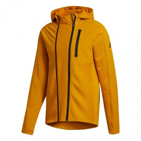 Adidas Cold.RDY Training Hoodie Férfi Felső (Mustársárga-Fekete) GJ0341