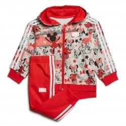 Adidas Disney Minnie Mouse Jogger Set Kislány Bébi Együttes (Piros-Szürke) GD3722