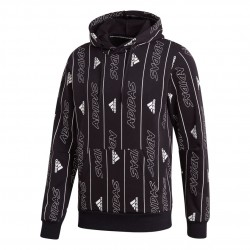 Adidas Must Haves Graphic Pullover Férfi Pulóver (Fekete-Fehér) FU0032