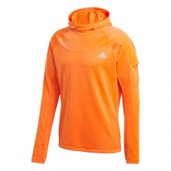 Adidas Own The Run Warm Hoodie Férfi Futó Pulóver (Narancssárga) GC7909