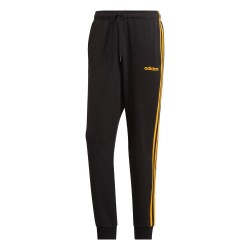 Adidas Essentials 3 Stripes Pants Férfi Nadrág (Fekete-Sárga) GD5144