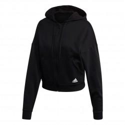 Adidas Badge Of Sport AOP FZ Hoodie Női Felső (Fekete-Fehér) FR5102