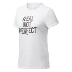 Reebok TE Graphic Tee-Real Tee Női Póló (Fehér-Fekete) FU2195