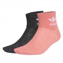 Adidas Originals Full Glitter Ankle Socks 2PP 2 Páras Női Zokni (Fekete-Rózsaszín) GD3452