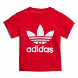 Adidas Originals Trefoil Tee Uniszex Bébi Póló (Piros-Fehér) GD2635
