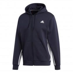 Adidas Must Haves 3S Hoodie Férfi Felső (Kék-Fehér) EK4543