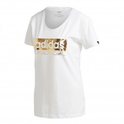 Adidas W Foil Tee Női Póló (Fehér-Arany) GL2847