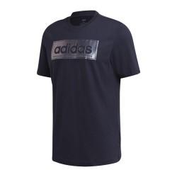 Adidas CLR SLV Logo Tee Férfi Póló (Kék-Ezüst) GD5914