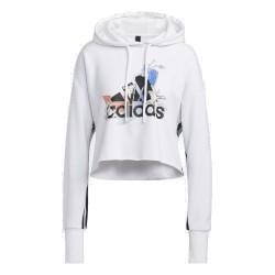 Adidas NINI GFX HOODY Női Pulóver (Fehér) GJ6546