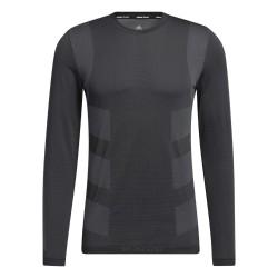 Adidas Studio Techfit Seamless Long Sleeve Tee Férfi Tréning Póló (Fekete-Szürke) GK2908