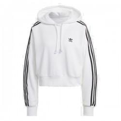 Adidas Originals Adicolor SHORT HOODIE Női Pulóver (Fehér) GN2891