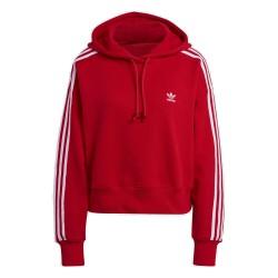 Adidas Originals Adicolor SHORT HOODIE Női Pulóver (Piros-Fehér) GN2892