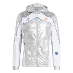 Adidas Permormance SPACE JKT Férfi Futó Kabát (Ezüst-Fehér) GK8816