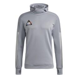 Adidas Space Race Hoodies Férfi Futó Kapucnis Felső (Ezüst) GK6997