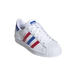 Adidas Originals Superstar J Női Cipő (Fehér-Piros-Kék) FW5851