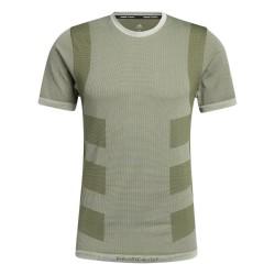 Adidas Studio Techfit Seamless Férfi Training Póló (Zöld) GL0435