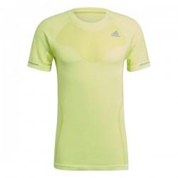 Adidas Primeknit Tee Férfi Futó Póló (Neonzöld) GL6855