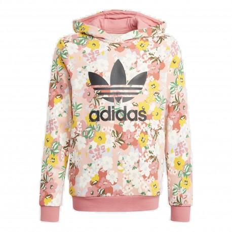 Adidas Originals Hoodie Lány Pulóver (Rózsaszín-Sárga-Fehér) GN4220