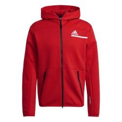 Adidas Z.N.E. Full-Zip Hoodie Férfi Pulóver (Piros) GQ6210