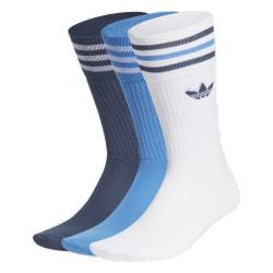 Adidas Originals Solid Crew Uniszex Zokni (Fehér-Kék-Sötétkék) GN3074