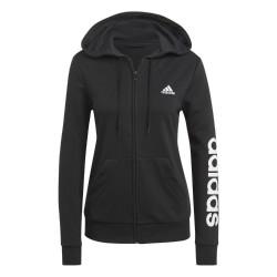 Adidas Essential Linear FZ Logo Hood Női Pulóver (Fekete-Fehér) GL0791