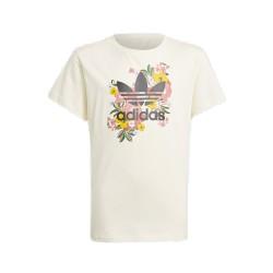 Adidas Studio London Floral Tee Gyerek Lány Póló (Fehér-Fekete-Rózsaszín) GN4216