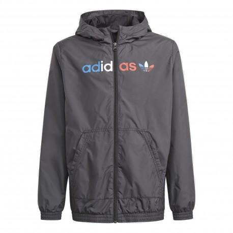 Adidas Originals Windbreaker Uniszex Gyerek Széldzseki (Fekete) GN7478